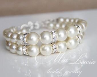 Pearl Bridal Bracelet, Vintage Wedding Bracelet, Vintage Bridal Bracelet, Pearl Wedding Bracelet for Bride, Bridal Jewelry Wedding art b03