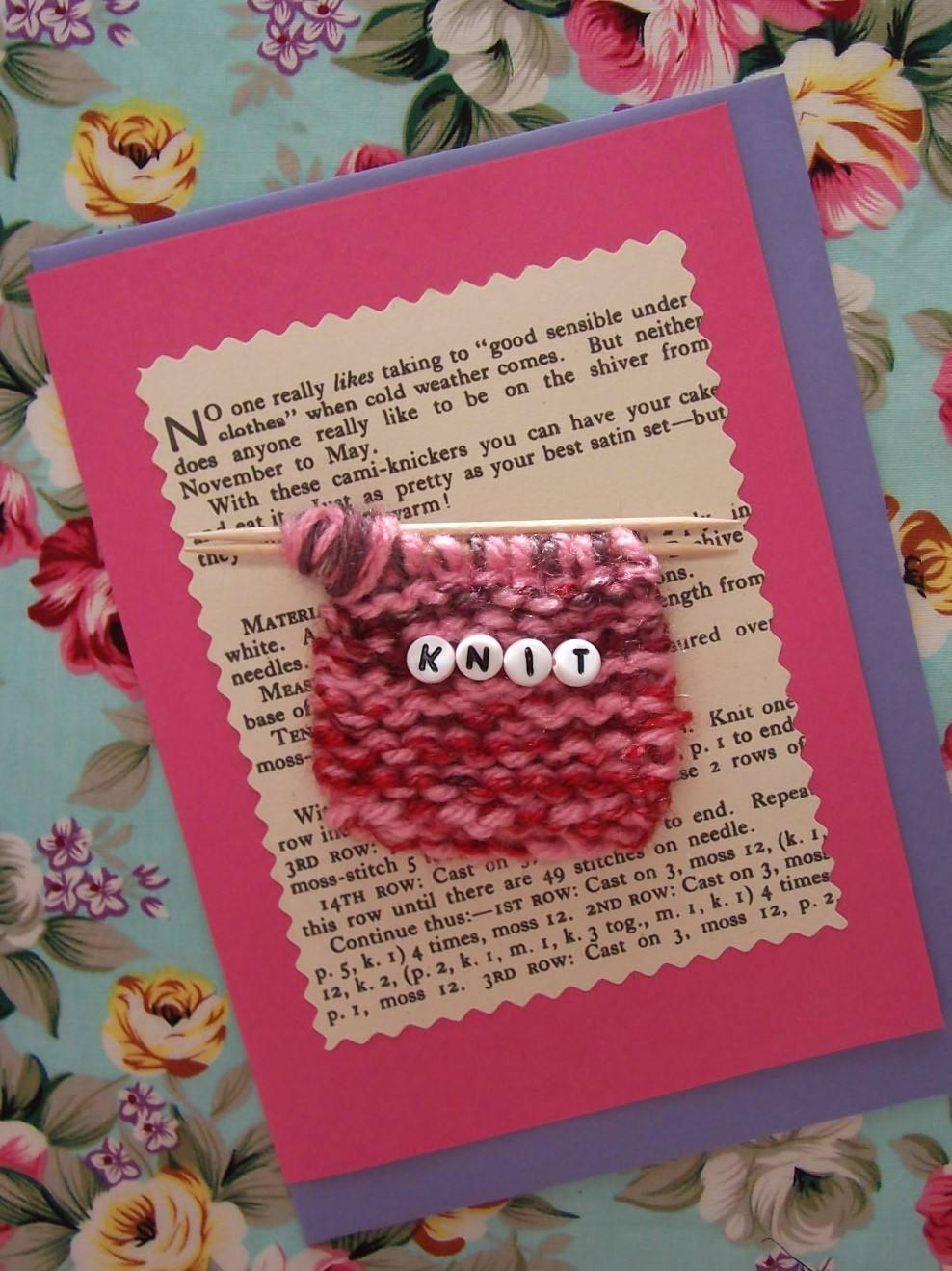Knit greetings card zoom kristyandbryce Gallery