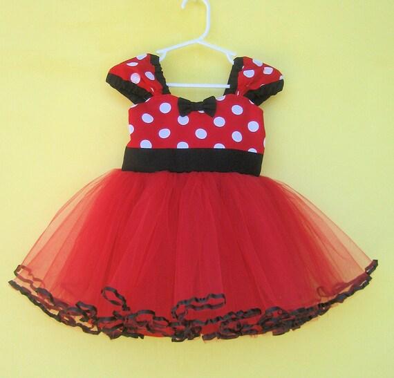 MINNIE MOUSE dress, Minnie Mouse birthday outfit, Minnie Mouse tutu Dress, Red Minnie Mouse dress, 1st Birthday dress, Minnie Mouse Outfit