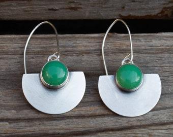 Dangle earrings, Gemstone earring, Statement earrings, Gift for her, Every day earrings, Sterling silver, Handmade, Artisan earrings, Boho