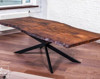 Table live edge wood   Table slab   Modern dining table   Conference room table    Live edge table   Loft table   Live edge dining table