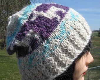 Bonnet d'hiver, bonnet de laine d'alpaga Fair Isle, alpaga bonnet pour les hommes et les femmes