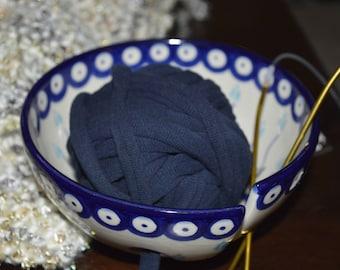 Dark Blue T-shirt Yarn Upcycled