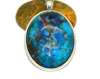 Reality turquoise cabochon 30 x 40 mm