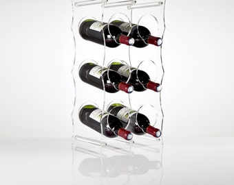 Clear Perspex Acrylic Wine Rack | Premium acrylic | Made in the UK