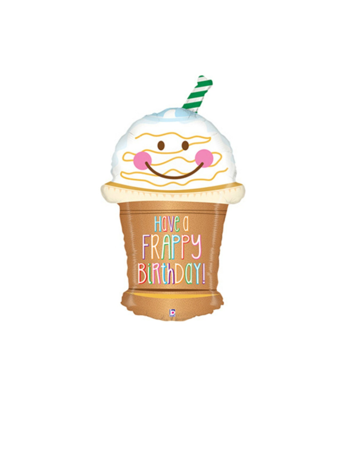 HUGE 32 Frappy Birthday Balloon. Coffee Lovers Birthday