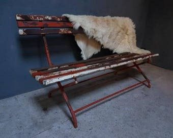 Old industrial Retro Bench