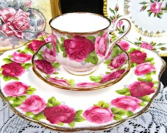 Royal Albert Tea Cup and Saucer Cabbage Rose Teacup & Cake Plate