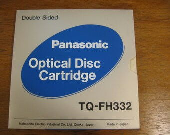 sale!!!Vtg Unique Panasonic Optical Disc Cartrige and Floppy Disk, New in Original Package Optical Disc Cartrige Double Sided, Made in Japan
