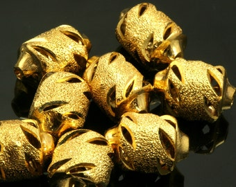 4 pcs 14x9 mm gold plated brass spacer bead 2 mm 12 gauge bab2 555