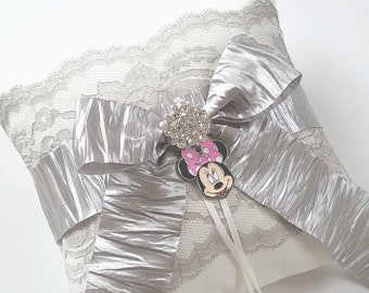 Disney Inspired Wedding Ring Pillow, Minnie Mouse Pillow