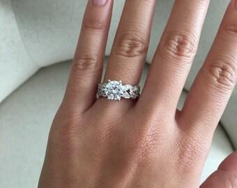 Large diamond ring | Etsy