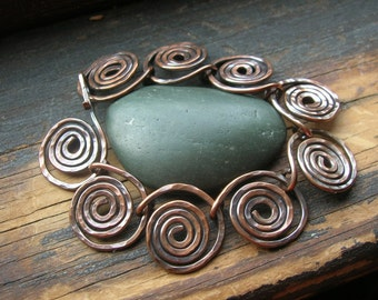 Coiled Copper bracelet