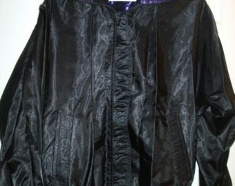 Reversible Blazer Sz Med Evening Jacket,Purple and Black Glitter, Long Sleeves, New Reversible Purple Jacket, Dressy black Jacket,