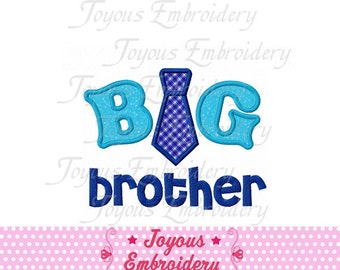 Instant Download Big Brother With Tie  Applique Machine Embroidery Design NO:1433