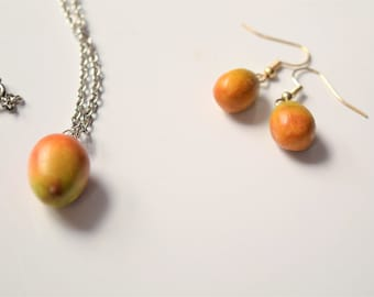 Mango Earrings and Necklace Set