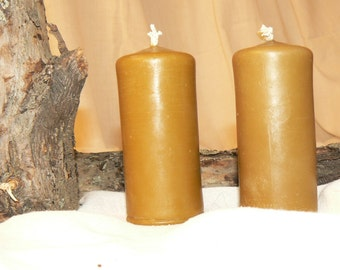 2 candles 100 % beeswax roller small