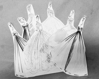 Custom gown, Tony Hamawy