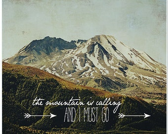 Nature photography, mountain photography, typography, fine art print