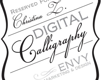 Wedding Invitation Digital Calligraphy, Wedding Invitation Envelope Printing, Wedding Guest Address Printing, Reserved for Christina Z.