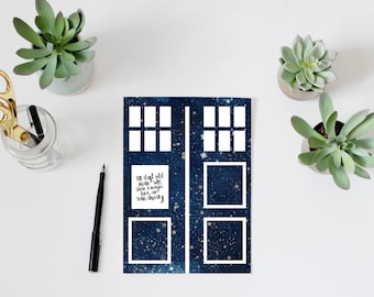 Doctor Who quote, PRINTABLE, TARDIS wall art home decor The 11th Doctor quote, stole a magic box and ran away quote print, Whovian geek gift