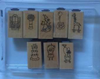 Pictures with sayings stamp set.