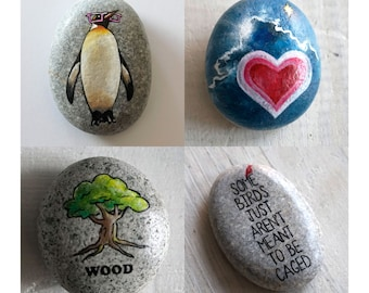 Custom gift // Personalized Travel Stone // Custom made farewell gift // Gift for traveler // Custom painted stone // Personal talisman