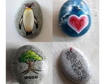 Gepersonaliseerd cadeau  // Travel Stone op maat // Cadeau voor reiziger //  Beschilderde steen in opdracht // Persoonlijk amulet