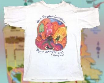 San Francisco Examiner Shirt - Vintage San Francisco - Bay Area - 1993 - 90's fashion - San Francisco News - 90s - 90s style - sf