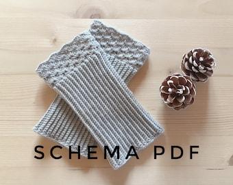 Winter crochet sleeves PDF PATTERN, instant download.