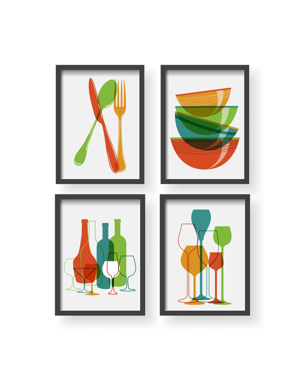 Colorful Kitchen Wall Art: Modern Colorful Kitchen Decor Kitchen Wall Art Kitchen
