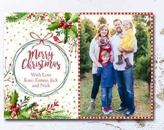 Merry Christmas, Christmas Card Template, Christmas Card, Holiday Card Template, Digital Christmas Card