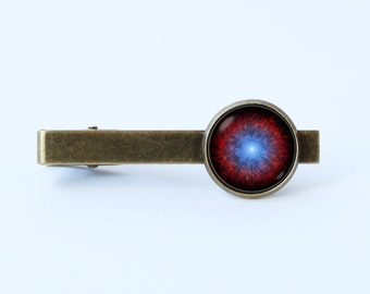 Galaxy tie clip Nebula tie clip Men accessories Husband gift Cosmos tie bar Nebula jewelry Galaxy jewelry Outer space Astronomy tie clip