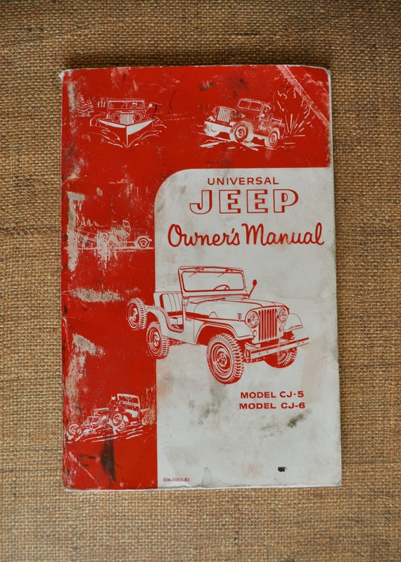 vintage universal jeep owner s manual 1959 cj 5 cj 6 rh etsy com owners manual for a canon mx922 printer owners manual for a canon gl1 ntsc