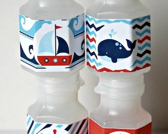 Sailboat Party Bubbles, Party Favor Bubbles, Sailing Party Favor (set of 12)