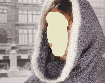 LUXURIOUS HOODED COWL