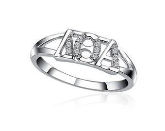 Lambda Theta Alpha Ring, Horizontal Design, Sterling Silver (LTA-R001)