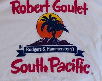 Vintage South Pacific broadway musical shirt Robert Goulet XL