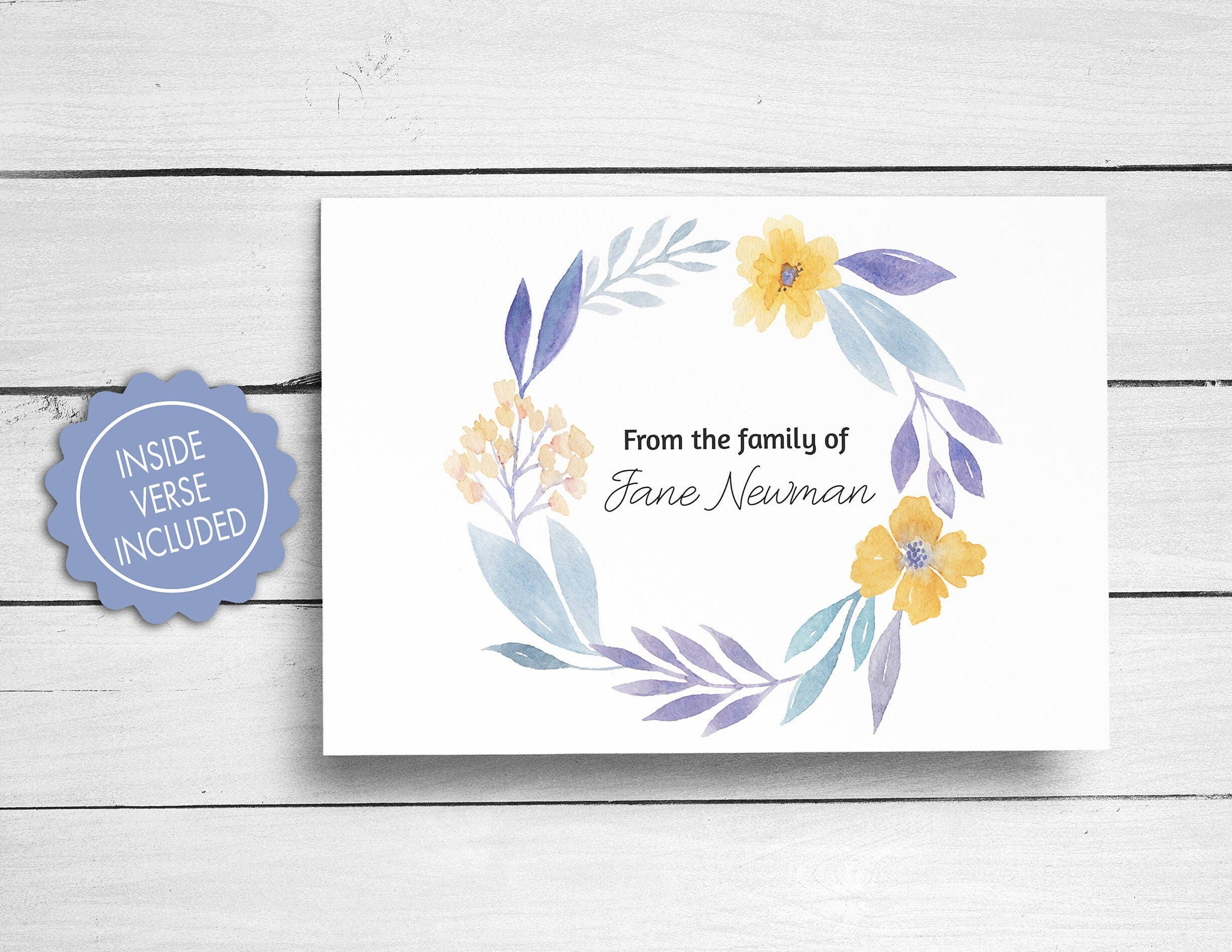 Sympathy acknowledgement cards funeral thank you cards bereavement sympathy acknowledgement cards funeral thank you cards bereavement cards floral funeral cards personalized funeral note cards izmirmasajfo Gallery