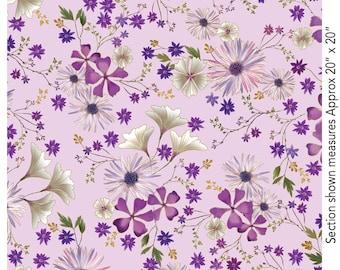 Enchanted - 8825M-60 - Enchanted Garden Floral Lilac - by Kanvas Studios for Benartex