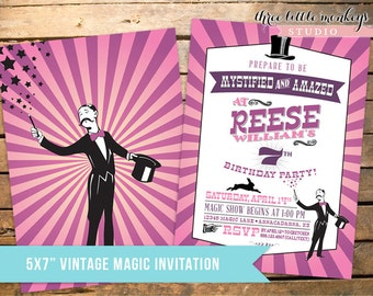Magician Birthday Party Invitation + Our 4 Favorite Printables!