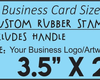 Personalized 15 x 3 custom rubber stamp made with business personalized custom rubber stamp made with business logo text and artwork size 35 x reheart Image collections