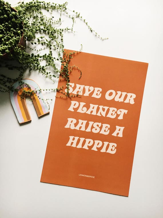 Groovy Poster Prints // Save Our Planet