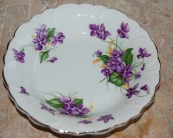 Vintage Floral China Jewlery Dish