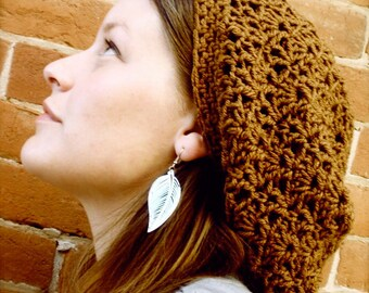 Crochet Slouchy Boho Hat - INSTANT DOWNLOAD - Crochet Pattern PDF
