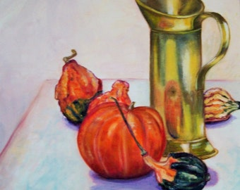 """PAINTING, oil on canvas """"Gourds"""""""