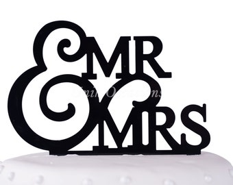 Unik Occasions Mr. & Mrs. Wedding Acrylic Cake Topper