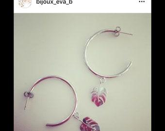 Silver leaf hoops
