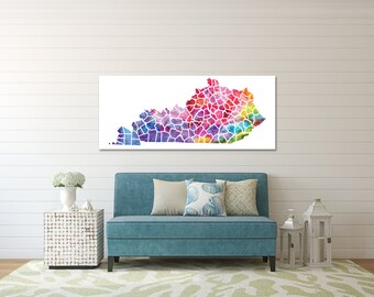 Kentucky State Art Canvas