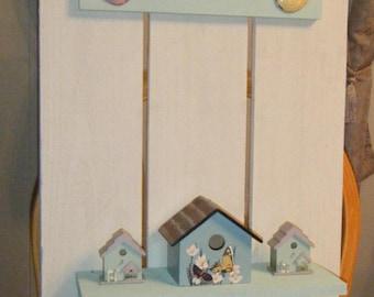 Bird Houses Wall Shelf\\Decorative Wall Shelf with Hooks